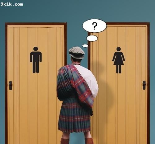 Kilt Bathroom Sign speaking of trans bathroom issues - political anarchy - sailing