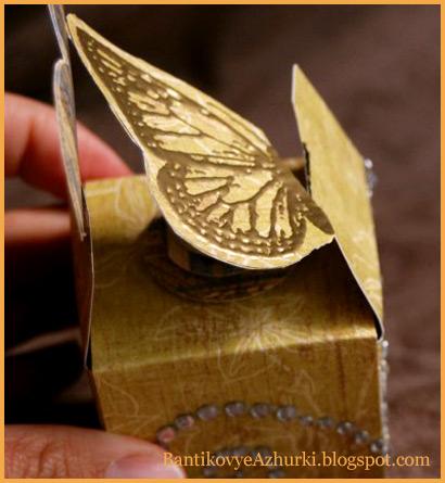Упаковка для подарка - коробочка с бабочкой своими руками
