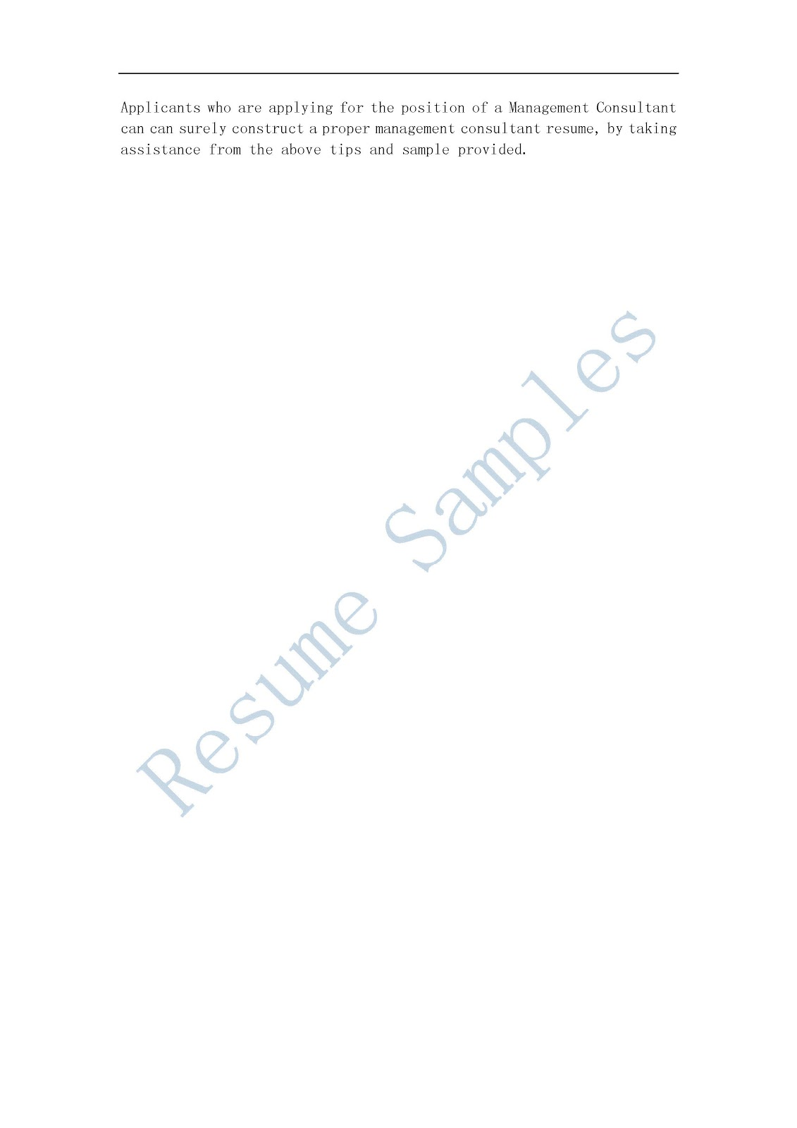 resume samples management consultant resume