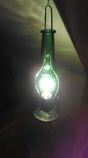 hanging electric bottle lantern