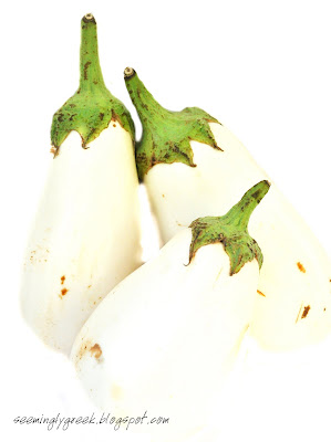 white eggplant White Eggplants and a return to Lesvos