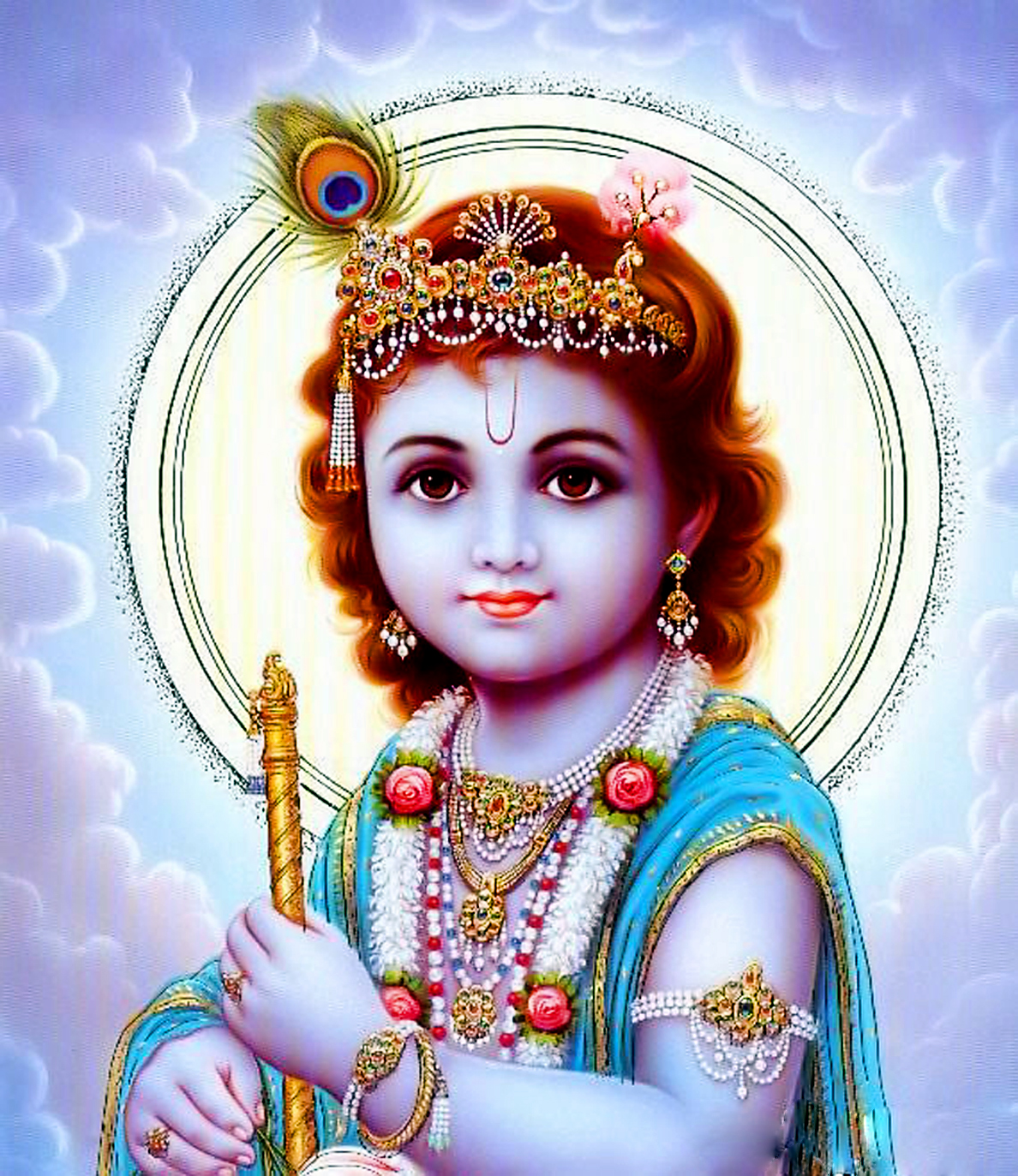 Hd wallpaper krishna - Lord Sree Krishna In Child Cute Hd Wallpaper