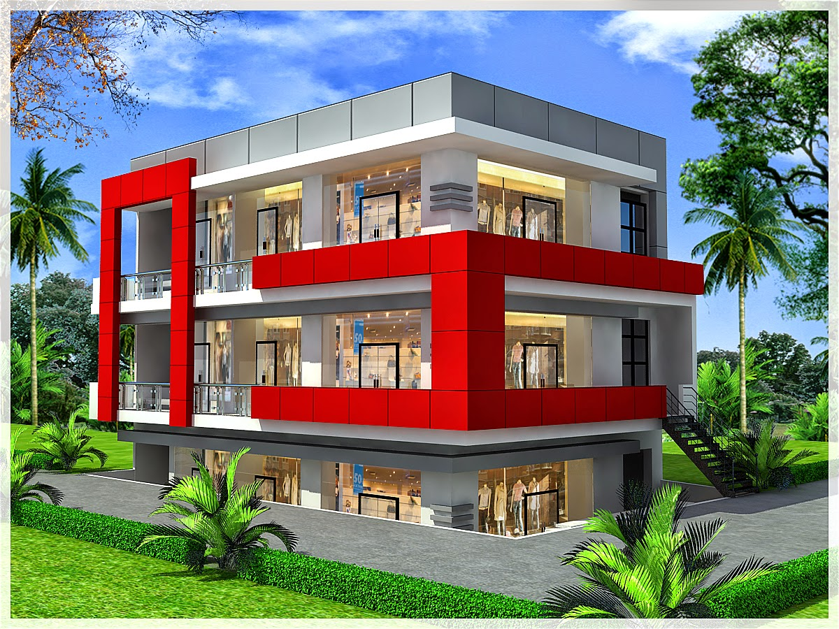 Ghar planner leading house plan and house design for Commercial building design software