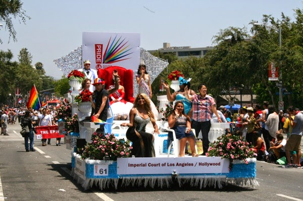 Imperial Court float West Hollywood Pride Parade 2014