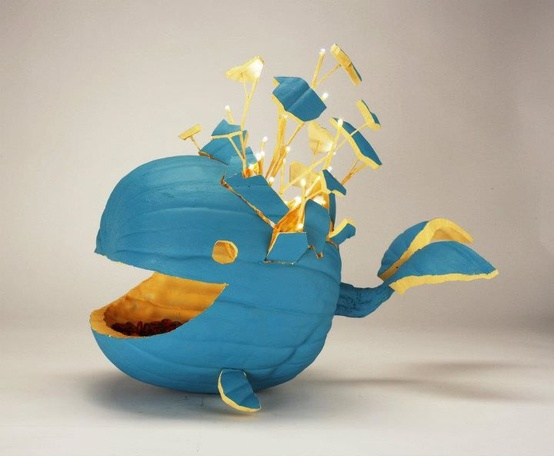 Blue Whale Jack o' Lantern