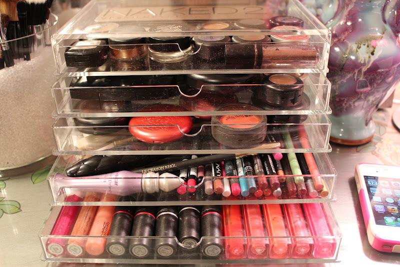 acrylic makeup organizer drawers muji www
