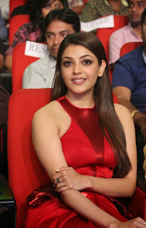 Actress Kajal Agarwal Latest Pictures in Long Dress at Temper Movie Audio Launch Function  35