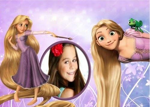 Montagem de fotos online  Rapunzel