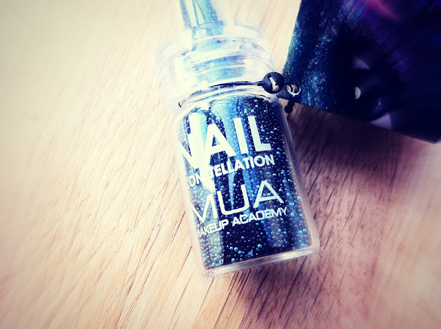 Libra nail constellation close up