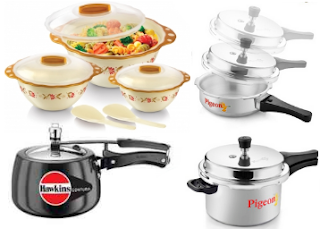 Askmebazar: Buy Pressure Cookers, Dinner Set And Container At Flat 50% And 40% Off