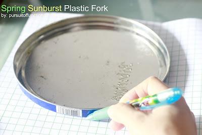 Spring Sunburst Plastic Fork.