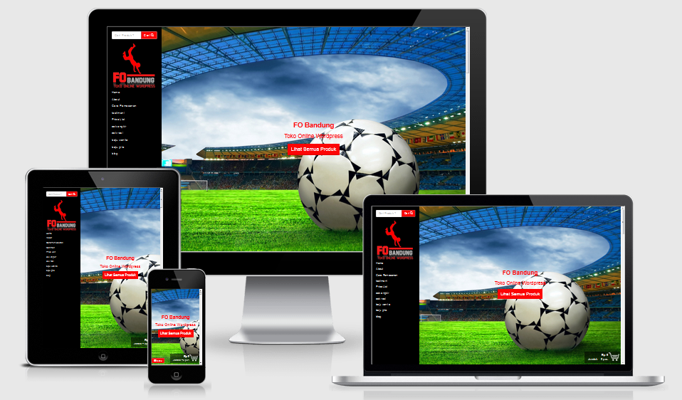 Template Toko Online FO Bandung Cocok Untuk Produk Olahraga