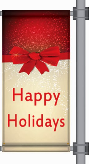 Happy Holidays Pole Banner | Banners.com