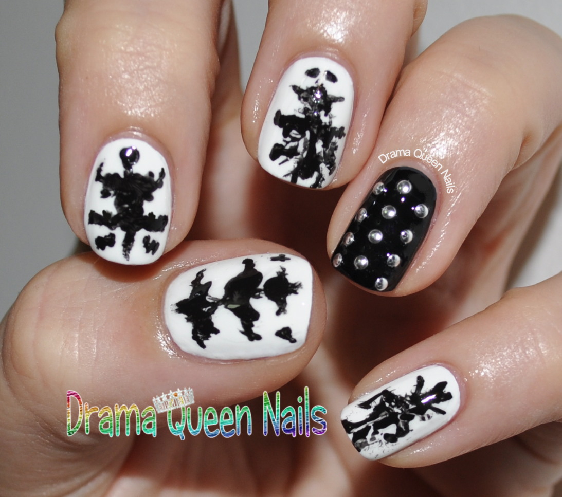 And From There Came This Idea For Rorschach Or Ink Blot Nails Read On A Glimpse Into The Mind Of Nail Crazed Drama Queen