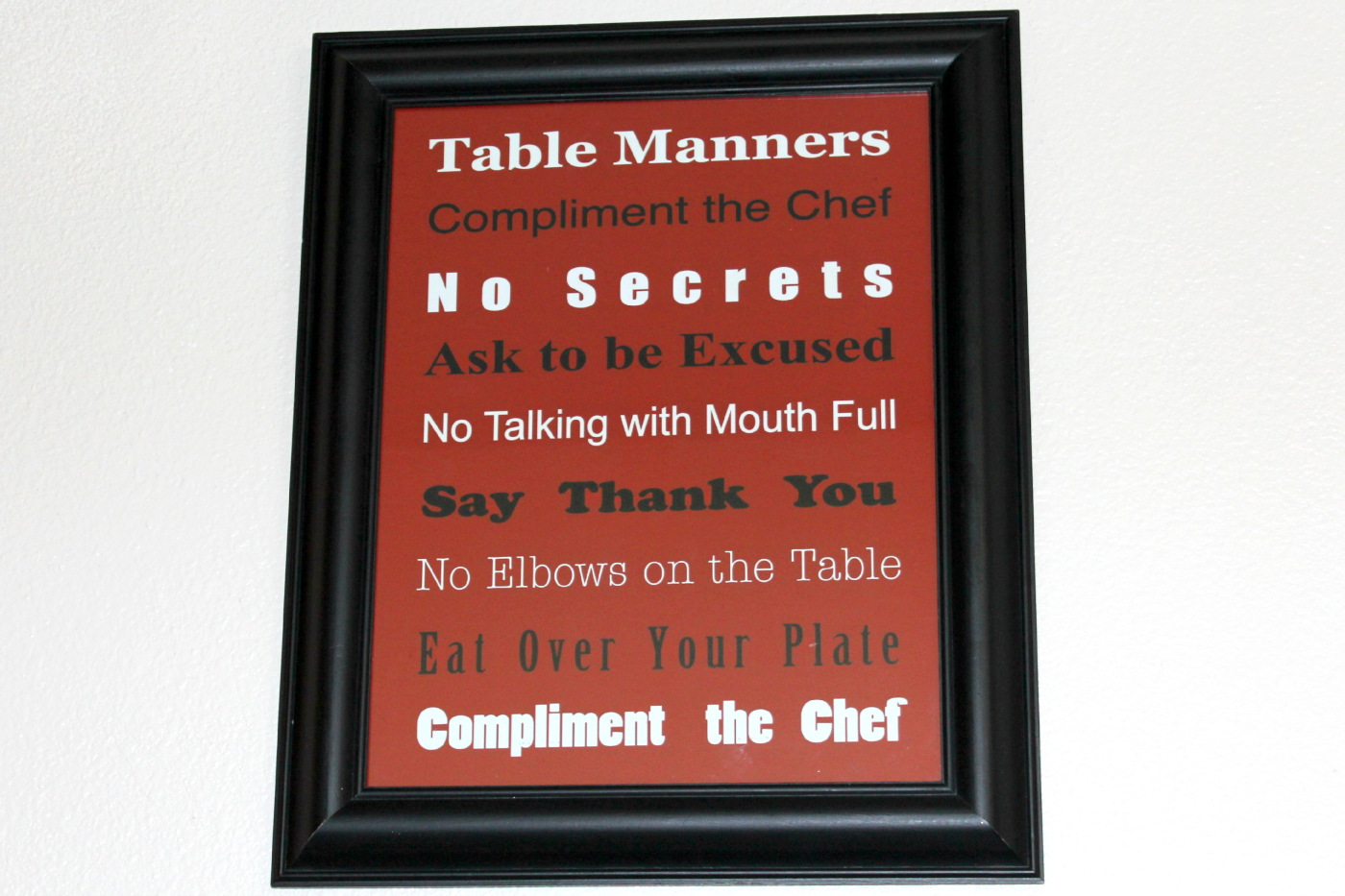 Basic Table Manners Free Printable True Aim
