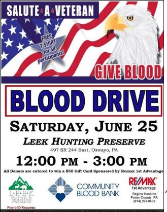 6-25 Blood Drive, LEEK Preserve
