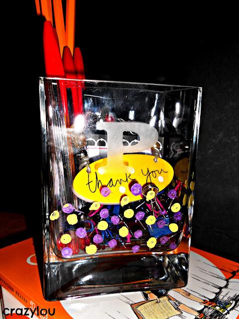 Hand Painted Glass Jar