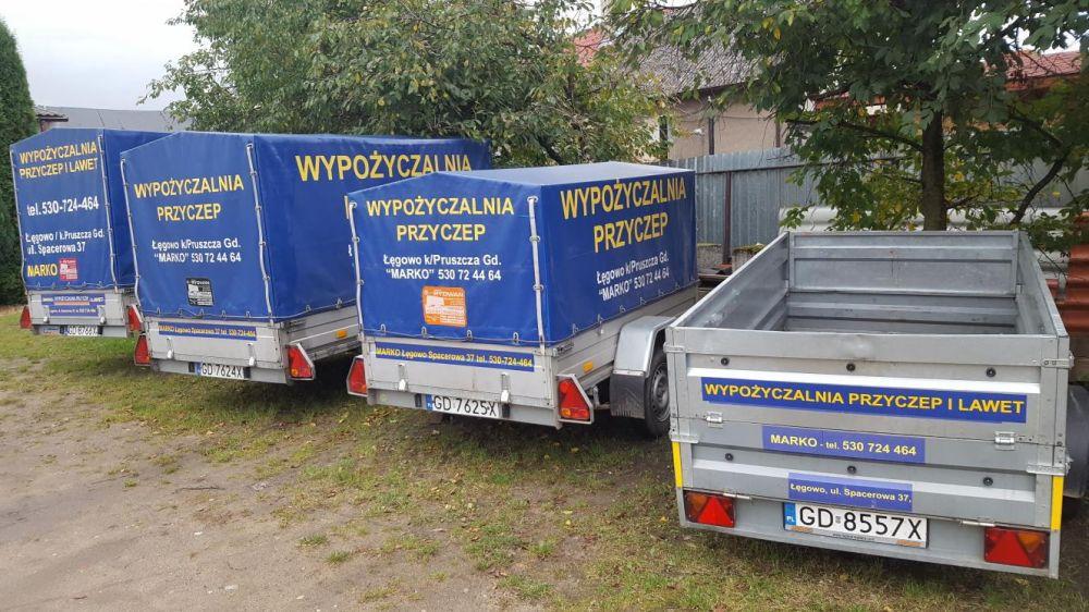 Wypożyczalnia przyczep i lawet Gdańsk
