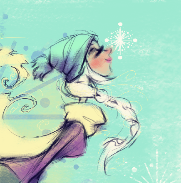 Let it snow winter illustration