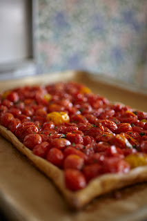 recipe for oven roasted herb tomato tart