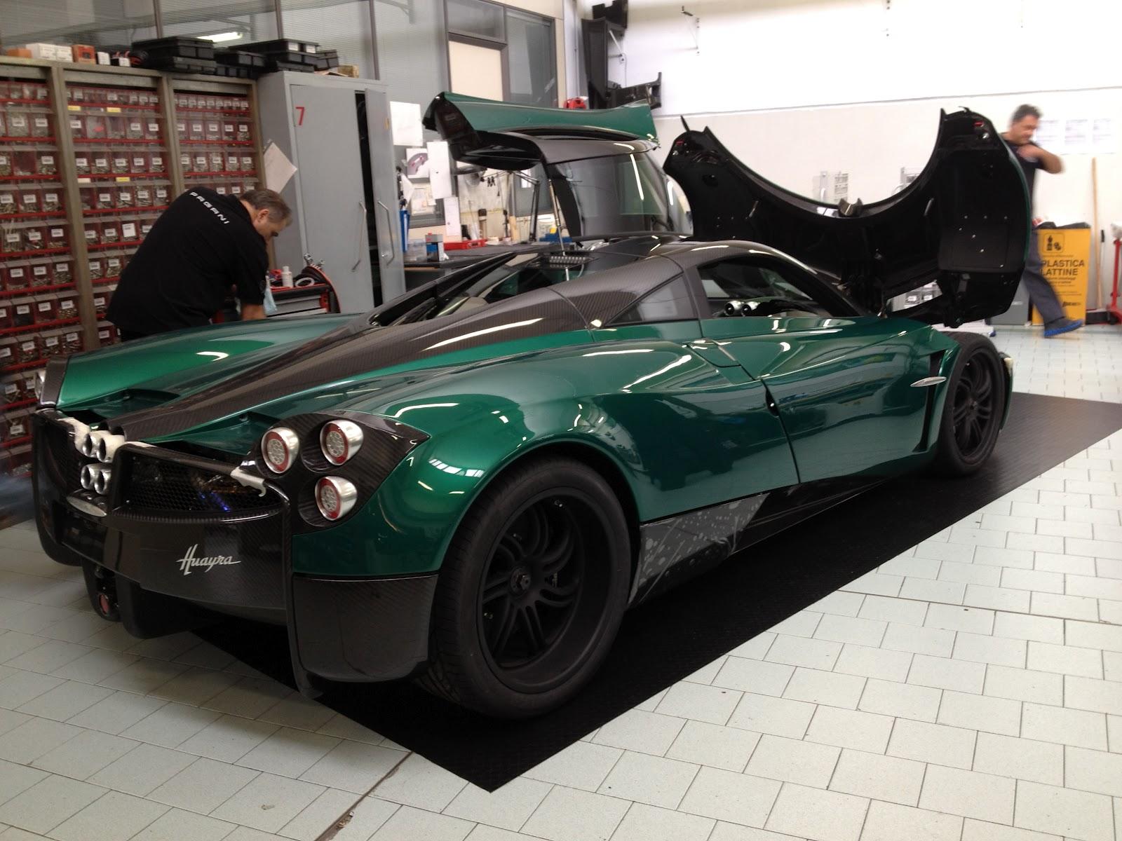 First Green Pagani Huayra