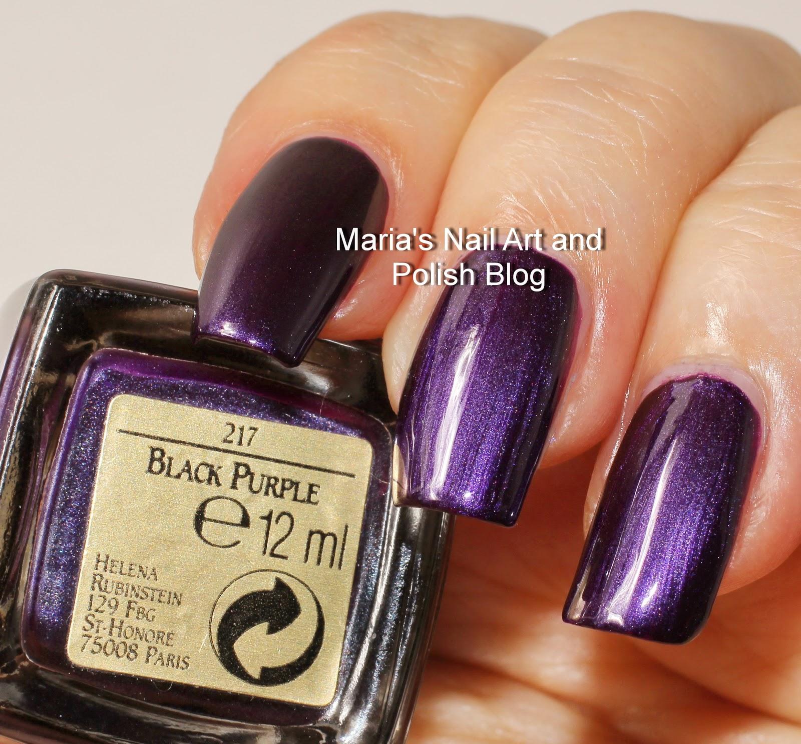 Marias Nail Art And Polish Blog: Helena Rubinstein Black