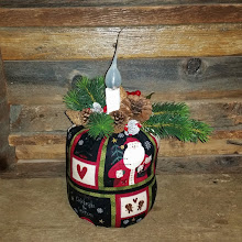 FABRIC CHRISTMAS BAG LAMP LIGHT