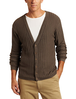 Alex Stevens Men's Solid Rib Button Front Cardigan
