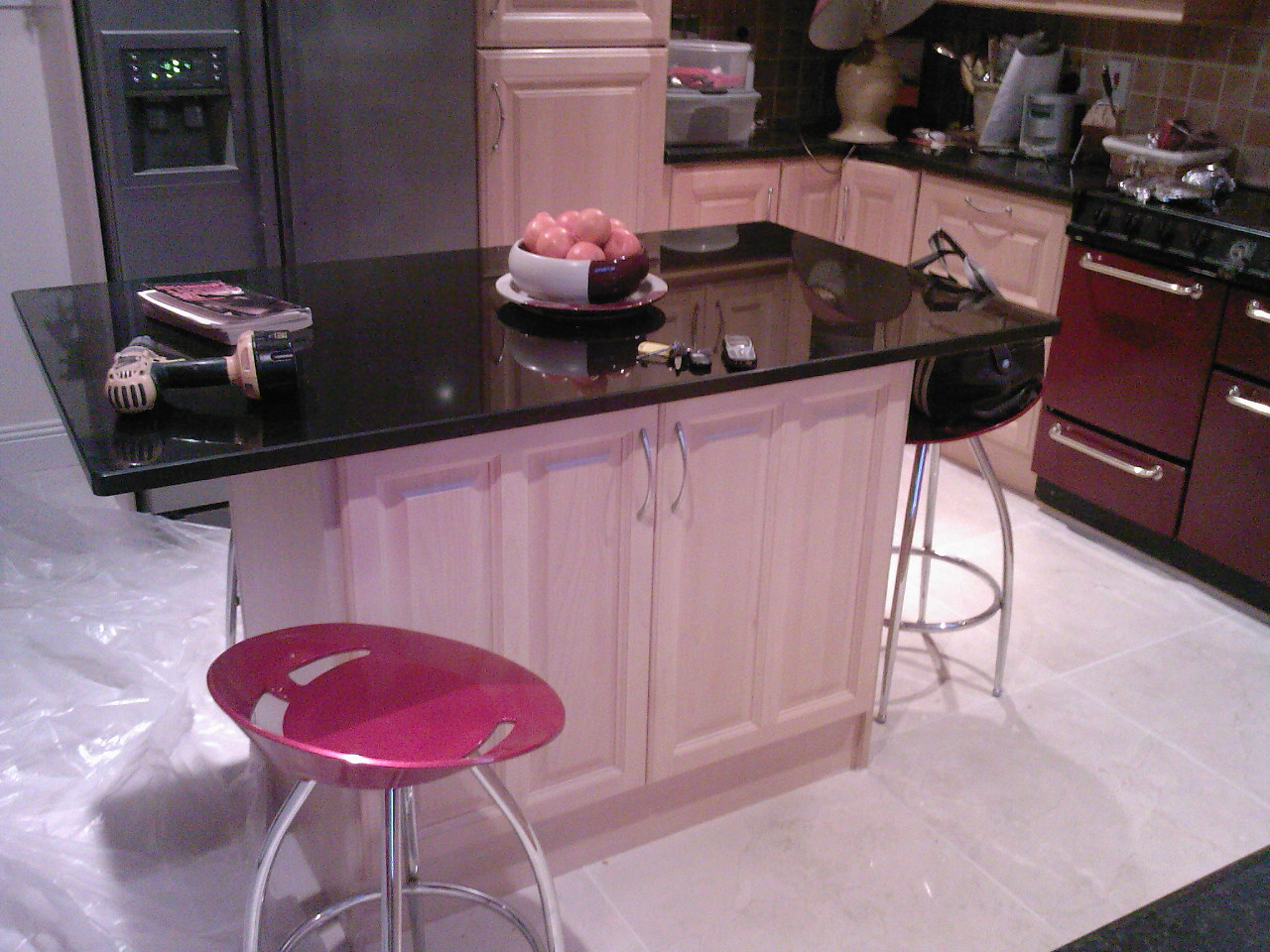 Granite kitchen island designs best kitchen places - Granite kitchen design ...