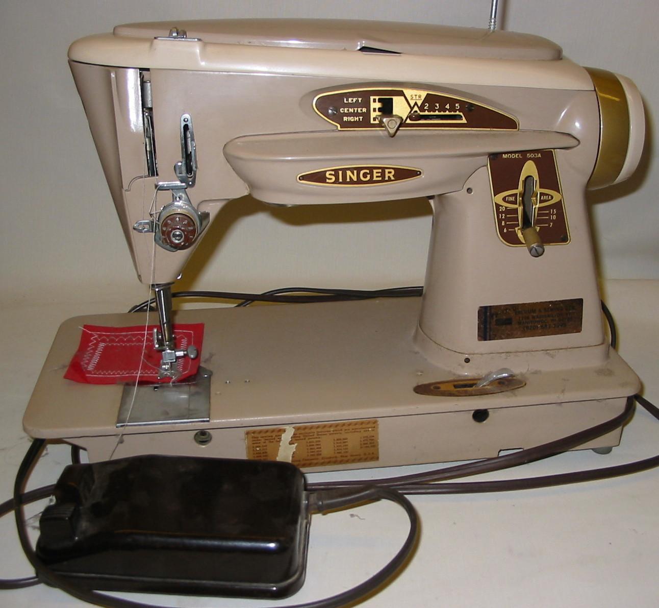 Il punto antico singer 503a rocketeer for Ipercoop macchina da cucire