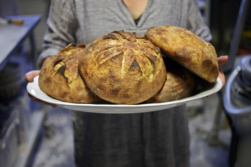 Della Fattoria Bakery Rosemary Meyer Lemon Bread