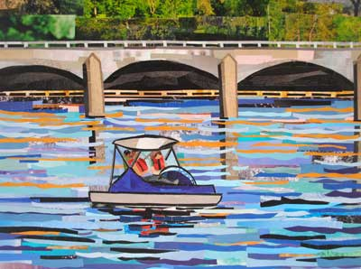 Paddle Boating by collage artist Megan Coyle
