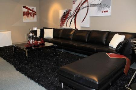Salas con muebles negros ideas para decorar dise ar y for Muebles de salon negros