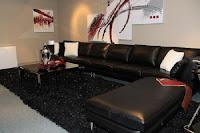 salas muebles negros
