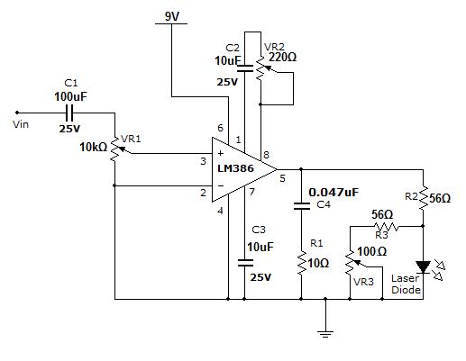 laser communication transmitter electronics circuitscircuit diagram of laser communication transmitter