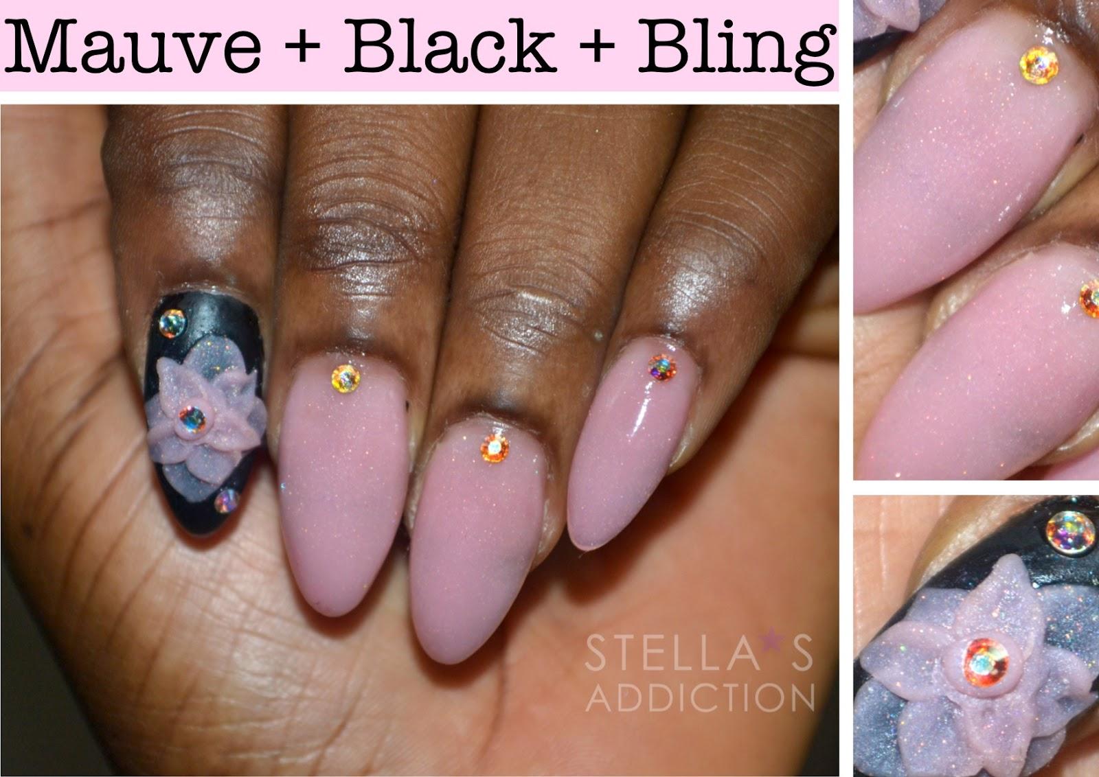 Notd twilight inspired nail art stellas addiction notd mauve black bling nail a prinsesfo Gallery