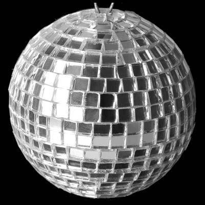 Globo Espelhado para Iluminação de Festa