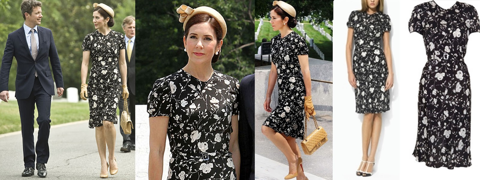 Steal Her Style: Princess Mary of Denmark in Ralph Lauren Monochrome Floral  Dress
