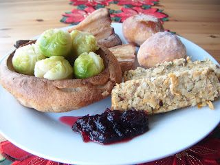 nut roast with vegetarian Christmas dinner