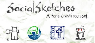 Sketched Social Media Icons