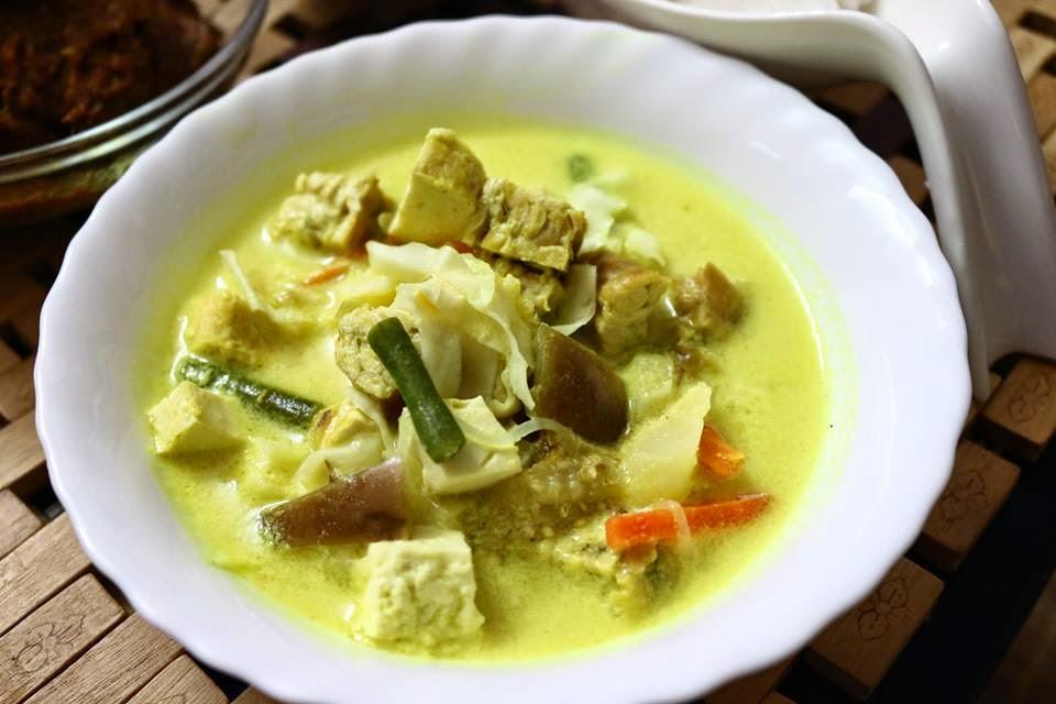 Resepi Nasi impit kuah Lodeh