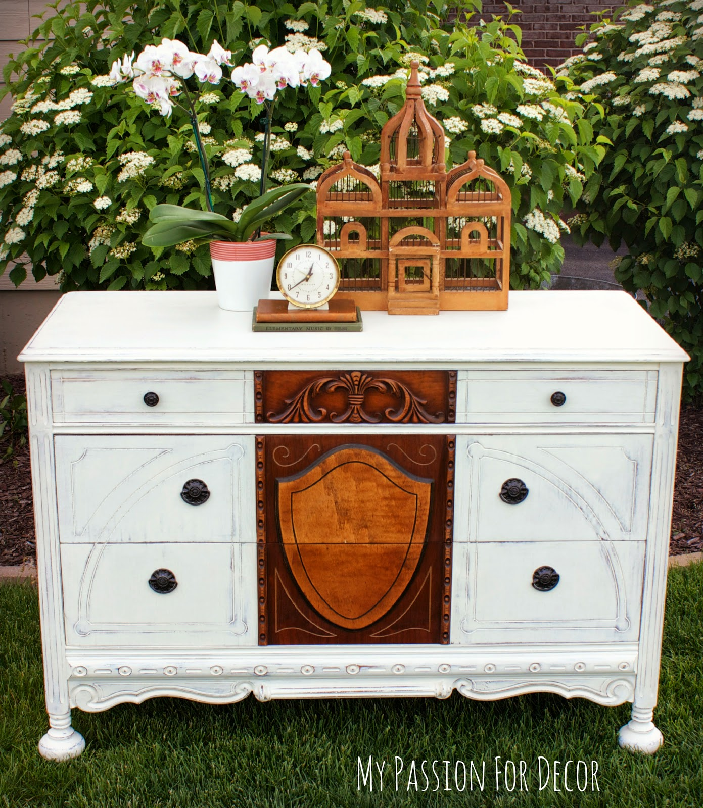 I know there are a lot of wood purists out there who will be upset that I  painted this piece  However  I tried my best to save what I could and give. My Passion For Decor  1920 s Dresser Rescue    The Saga of the