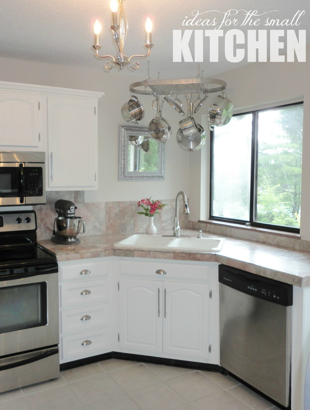 Livelovediy the kitchen to do list progress report for Corner sink kitchen design ideas