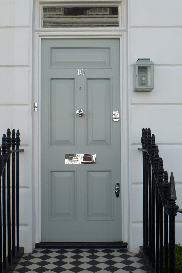 Farrow and Ball Light Blue front door