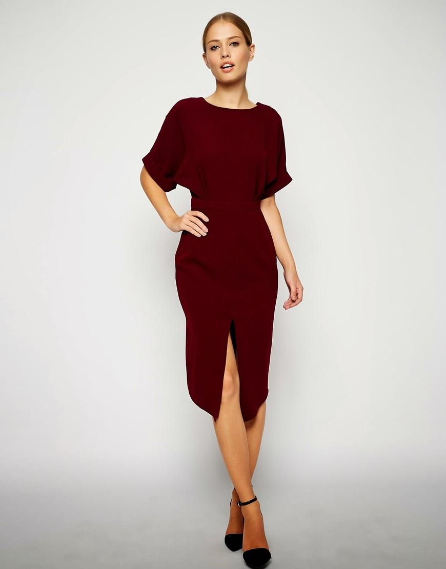 midi dress with v back