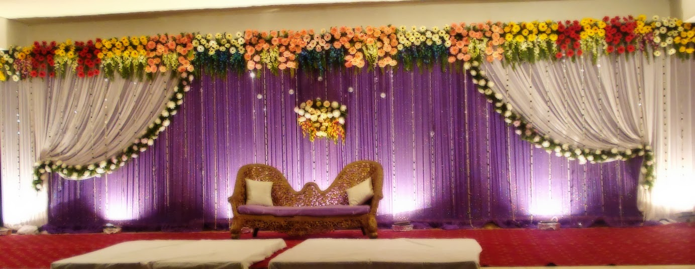 Wedding stage decorators birthday event organizers in for Background decoration for indian wedding