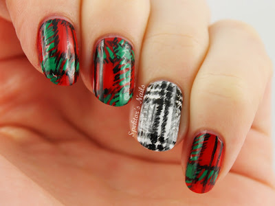 Zara Scarf inspired Plaid/Tartan Nails