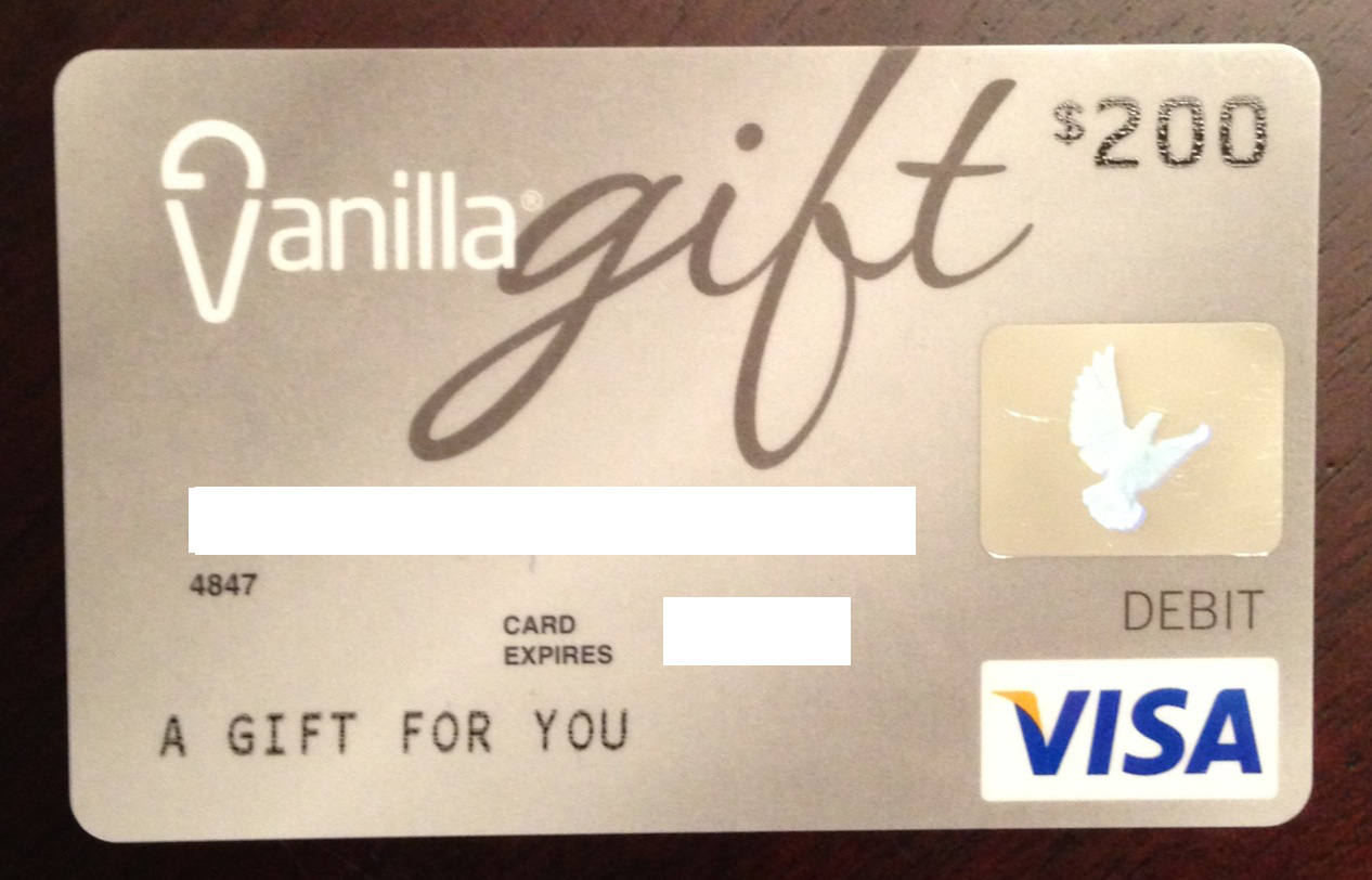 vanilla gift card bank