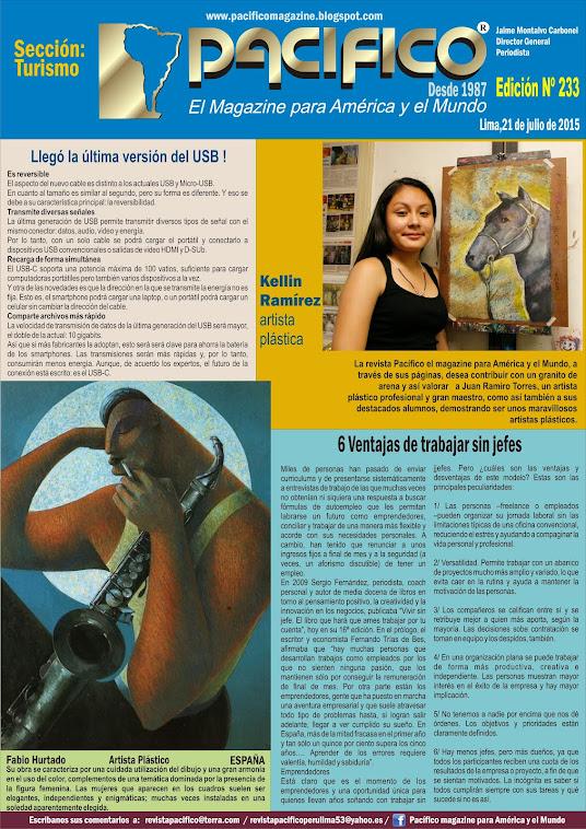 Revista Pacífico Nº 233 Turismo