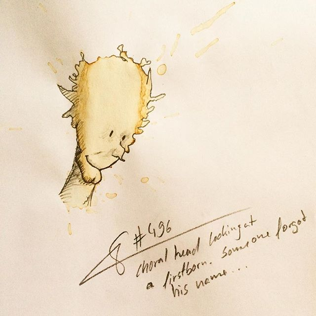 05-Choral-Head-Stefan-Kuhnigk-Monster-Drawings-within-Coffee-Stains-www-designstack-co